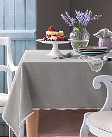 French Perle Dove Gray Table Linen Collection