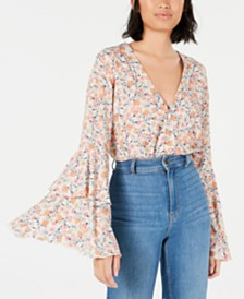 Free People She's Dainty Bell-Sleeve Bodysuit