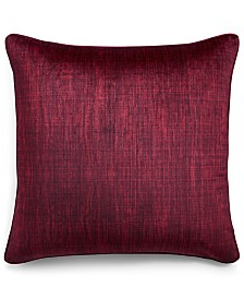 "Home Design Studio Printed Velvet 22"" x 22"" Decorative Pillow, Created for Macy's"