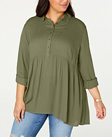 Plus Size Babydoll Shirt, Created for Macy's