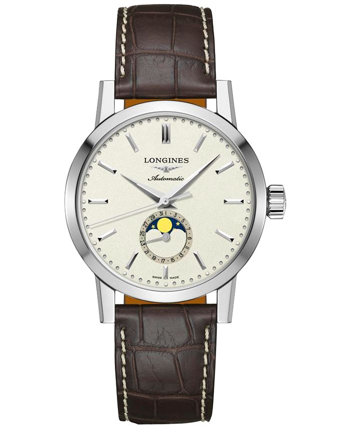 Longines - Men's Swiss Automatic The  1832 Brown Alligator Leather Strap Watch 40mm