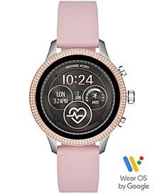 Access Women's Runway Pink Silicone Strap Touchscreen Smart Watch 41mm, Powered by Wear OS by Google™