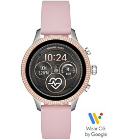 Michael Kors Access Women's Runway Pink Silicone Strap Touchscreen Smart Watch 41mm, Powered by Wear OS by Google™