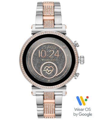 Michael Kors Access Women's Gen 4 Sofie  Two-Tone Stainless Steel Bracelet Touchscreen Smart Watch 41mm, Powered by Wear OS by Google™
