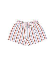 Little Girls Stripe Pull On Short