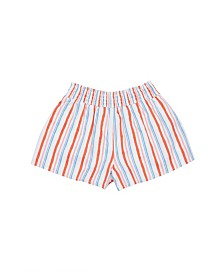 Flapdoodles Little Girls Stripe Pull On Short