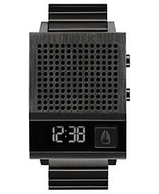 Unisex Digital Dork Too Black-Tone Stainless Steel Bracelet Watch 38mm