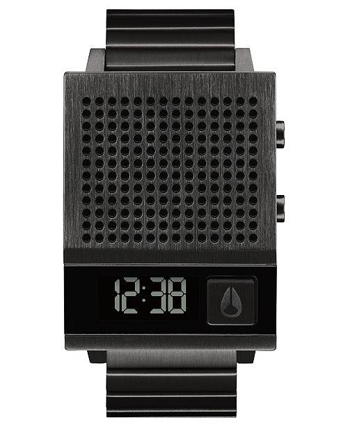 Nixon Unisex Digital Dork Too Black-Tone Stainless Steel Bracelet Watch 38mm