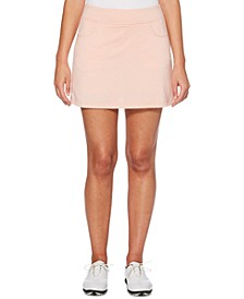 Heathered Stretch Golf Skort