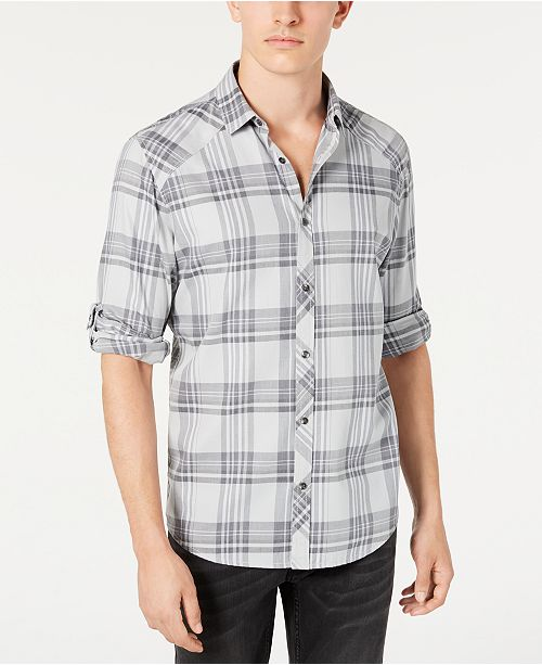 INC International Concepts INC Men's Marc Plaid Shirt, Created for Macy's