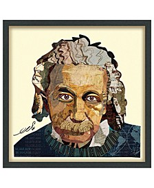 'Einstein' Dimensional Collage Wall Art - 25'' x 25''
