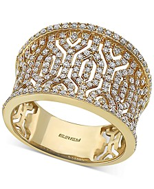 EFFY® Diamond Pavé Openwork Statement Ring (3/4 ct. t.w.) in 14k Gold