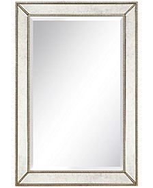 """Solid Wood Frame Covered with Beveled Antique Mirror Panels - 24"""" x 36"""""""