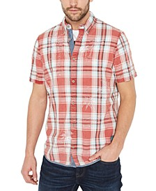 Men's Plaid Palm Tree Shirt