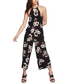 Halter Top Floral Jumpsuit