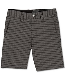 Toddler & Little Boys Stretch Stripe Board Shorts