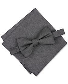 Men's Solid Texture Pocket Square and Bowtie, Created for Macy's