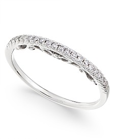 Diamond Band (1/10 ct. t.w.) in 14k White Gold