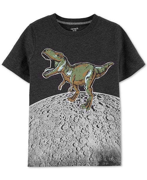 Carter's Little & Big Boys Dino-Print Glow-In-The-Dark T-Shirt