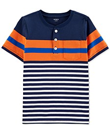 Little & Big Boys Striped Cotton Henley T-Shirt
