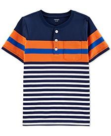 Little & Big Boys Striped Cotton Henley T-Shirt