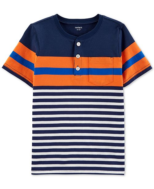 Carter's Little & Big Boys Striped Cotton Henley T-Shirt