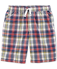 Carter's Little & Big Boys Plaid Cotton Shorts