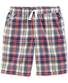 Carter's Little & Big Boys Plaid Cotton Shorts