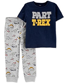 Toddler Boys 2-Pc. Cotton T-Rex-Print T-Shirt & Jogger Pants Set