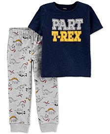 Carter's Toddler Boys 2-Pc. Cotton T-Rex-Print T-Shirt & Jogger Pants Set