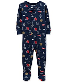 Toddler Boys 1-Pc. Sports-Print Cotton Pajama