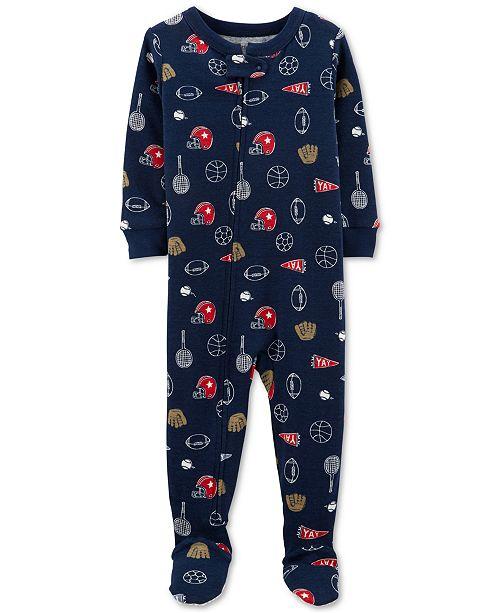 Carter's Toddler Boys 1-Pc. Sports-Print Cotton Pajama