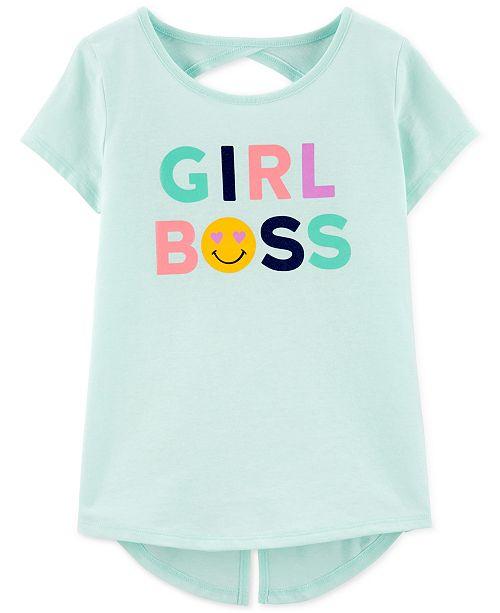 Carter's Little & Big Girls Girl Boss-Print T-Shirt