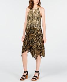 I.N.C. Python-Print Dress, Created for Macy's