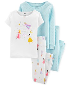 Carter's Little & Big Girls 4-Pc. Cotton Princess Pajama Set