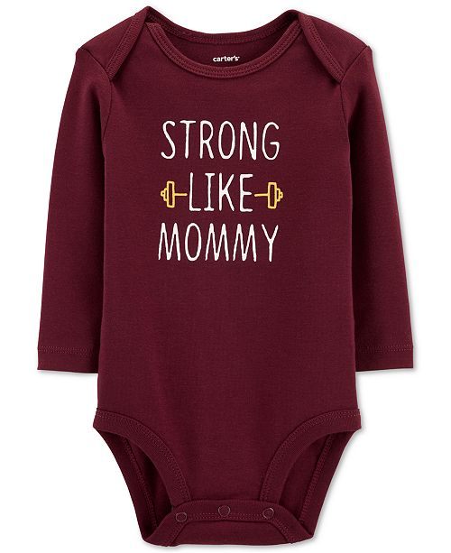 Carter's Baby Boys Strong Like Mommy Cotton Bodysuit