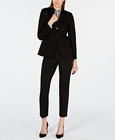 Modern Blazer, Silk Top & Jersey Pants