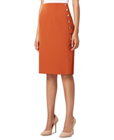 Tahari ASL Petite Side-Button Pencil Skirt