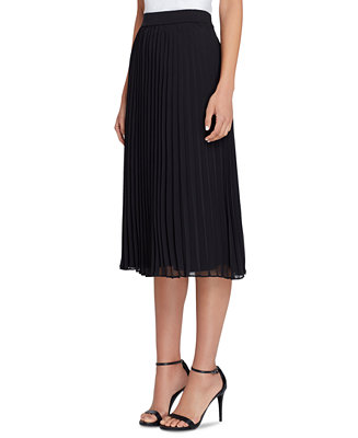 Sunburst Pleated Midi Skirt by General