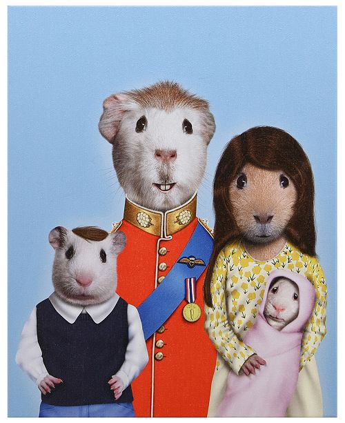 Empire Art Direct Pets Rock 'Royal Guinea Pigs' Graphic Art on Wrapped Canvas Wall Art - 20'' x 16''