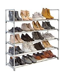 Simplify 5 Tier Stackable Shoe Rack