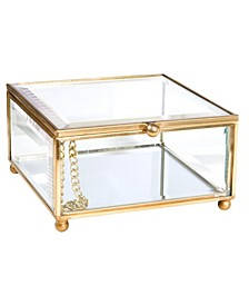 Vintage Mirrored Bottom Keepsake Box