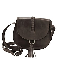 Hadaki Ring Leather Saddle Bag