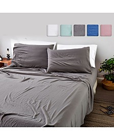 California Design Den 4-Piece Sheet Set, Queen