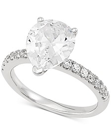 Lab Grown Diamond Pear Engagement Ring (2-1/3 ct. t.w.) in 14k White Gold