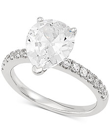 Grown With Love Lab Grown Diamond Pear Engagement Ring (2-1/3 ct. t.w.) in 14k White Gold