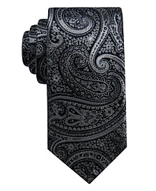 Men's Gardenia Paisley Slim Silk Tie, Created for Macy's