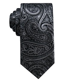 Ryan Seacrest Distinction™ Men's Gardenia Paisley Slim Silk Tie, Created for Macy's