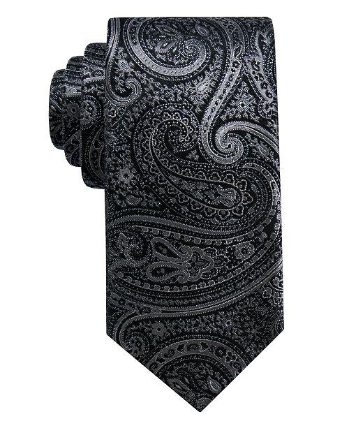 Ryan Seacrest Distinction Men's Gardenia Paisley Slim Silk Tie, Created for Macy's