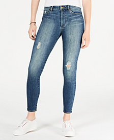 Articles of Society Hilary Ripped Ankle Skinny Jeans